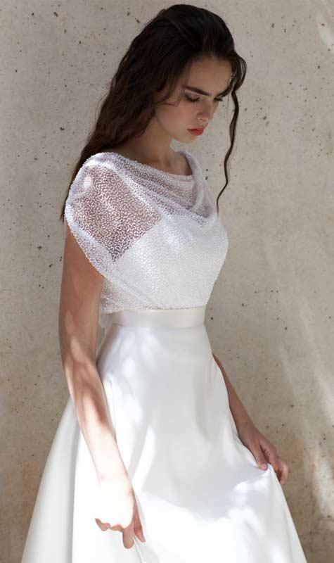 שמלת כלה עם טופ נשפך