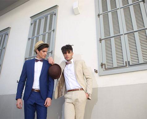 חליפות חתן בצבעי נייבי ופשתן
