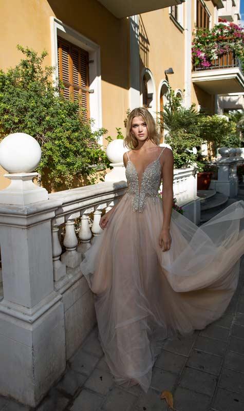 שמלת כלה בצבע ניוד