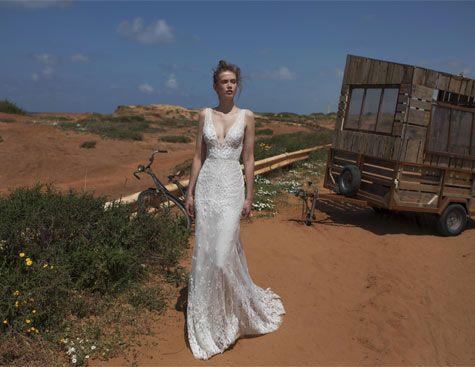 שמלת כלה עם כתפיות רחבות