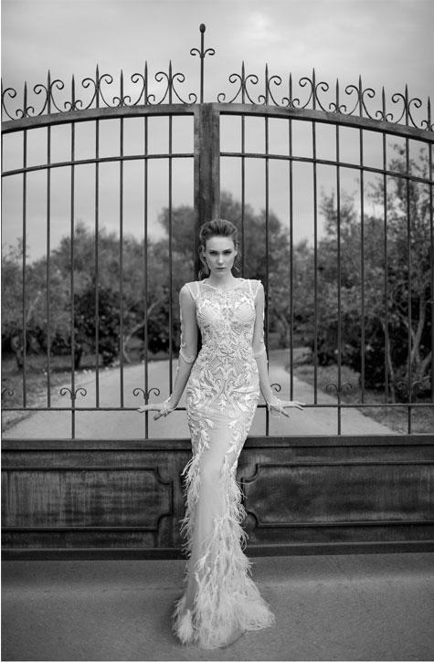 שמלת כלה לבנה קולקציית 2016