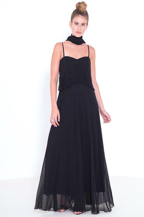 שמלת ערב שחורה קלאסית