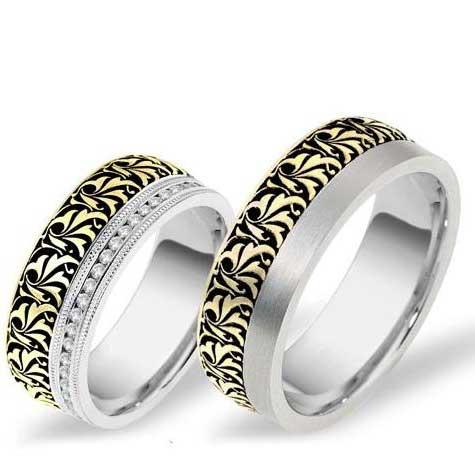 טבעות נישואין זוגיות ג'קסון