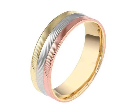 טבעת נישואין 3 צבעים