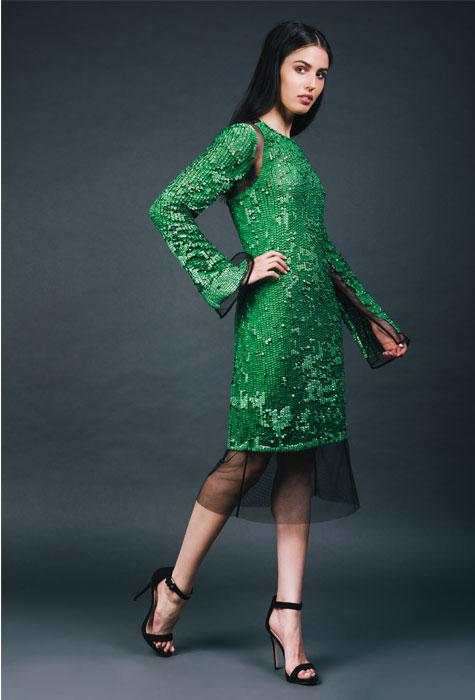 שמלת ערב בירוק עז