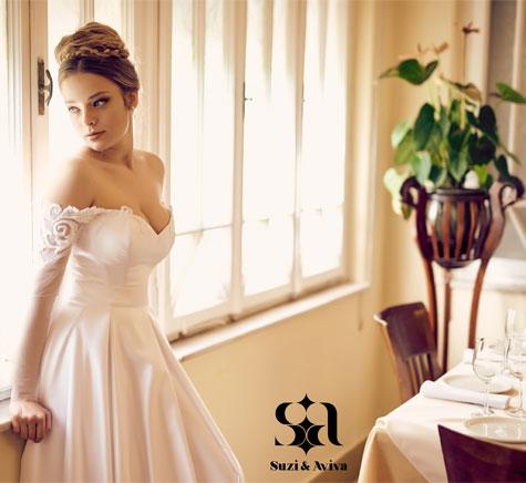 שמלת כלה עם קו מותן גבוה