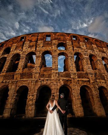 לפני האספרסו הראשון: צילומי זוגות ברומא